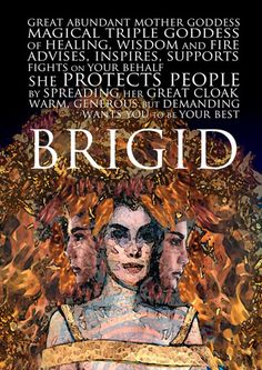 Brigid seems to have been both a pagan goddess and a Christian saint, with a smooth transition over time. As a goddess she was the patron of healing, crafts and poetry. Although venerated all over Ireland, Brigid had special territorial power over Leinste Celtic Goddess, Brighid Goddess, Goddess Pagan, Irish Mythology, Philippine Mythology, St Brigid, Sacred Feminine, Divine Feminine, Triple Goddess