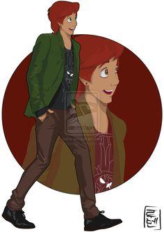 21 More Disney Characters As Modern College Students - 10.  Taran - The Black Cauldron - Link: http://hyung86.deviantart.com/art/Disney-Univ...