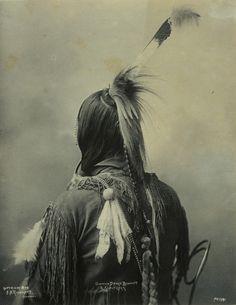 :F.A. Rinehart. Dance Bonnet and Scalplock of an Omaha Indian. 1899.