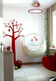 suspended baby cradle