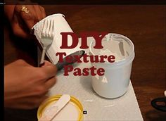 DIY: Make your own texture paste using telcum powder | Homemade texture paste - YouTube