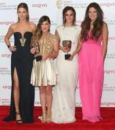 Millie Mackintosh,Louise Thompson,Lucy Watson,Binky Felstead at the BAFTAs, 12 May 2013