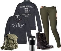 """""""Campus On-The-Go"""" by amarie104 on Polyvore"""