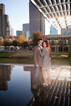 dallas engagement photo, Dallas Arts District Engagement Photos by Monica Salazar Photography http://www.monica-salazar.com
