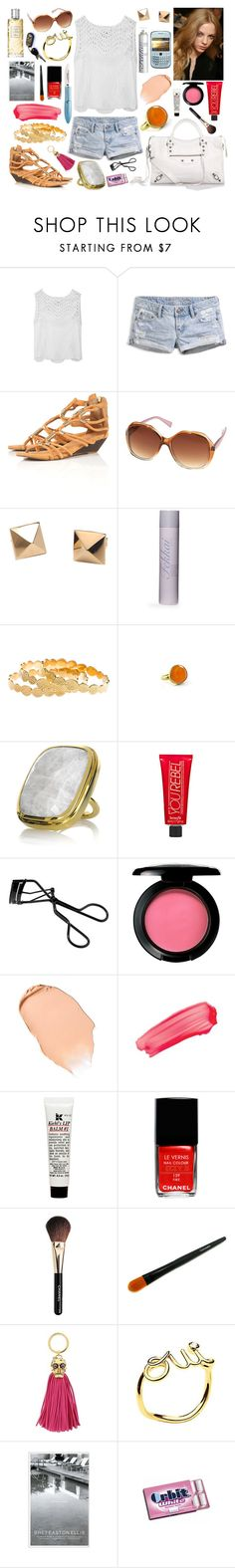"""07-24-11"" by belledenuit ❤ liked on Polyvore featuring 3.1 Phillip Lim, American Eagle Outfitters, Balenciaga, Topshop, Versus, Han Cholo, Fekkai, Melinda Maria, Pippa Small and Monica Vinader"