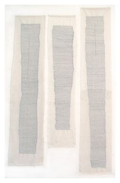 Lisa Hochstein, 'embodyment, hand stitching on muslin