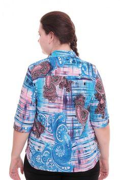 Блузка А6024 Размеры: 52-62 Цена: 525 руб.  http://optom24.ru/bluzka-a6024/  #одежда #женщинам #блузки #оптом24