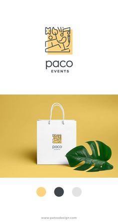 Beautiful Logo Design, Branding inspiration, Event planning logo, Event logo, Line icon logo, Patoo, Patoo Design