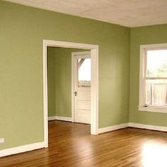 sage green walls- would love to paint my living room this color Living Room Green, Green Rooms, My Living Room, Interior Paint Colors, Paint Colors For Home, Interior Painting, Room Colors, House Colors, Wall Colors