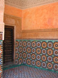 Love the colour and symmetry of these Moroccan tiles...