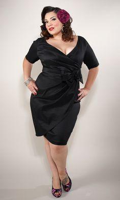 plus size vintage black dress
