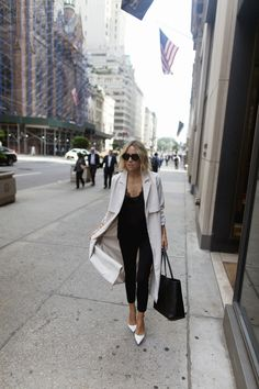 Intermix ivory trench coat #StreetStyle