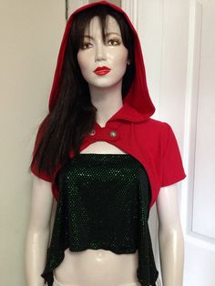 Red riding hoodie steampunk hug by FayeTalityCouture on Etsy