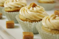 The Kitchen is My Playground: Salted Caramel Cupcakes with Caramel Buttercream Frosting