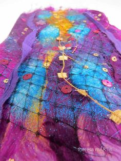 Read all of the posts by theresamartinart on theresa mARTin Angelina Fibres, Metallic Thread, Silk Painting, Medium Art, Textile Art, Collage Art, Find Art, Fashion Art, Art Projects