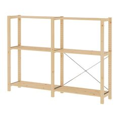 IVAR 2 sections/shelves - IKEA - painted a nice soothing color and placed as a divider or against 'dining area' wall
