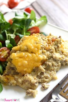 Cheesy Beef & Quinoa