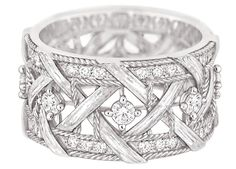 Dior ring in white gold with diamonds