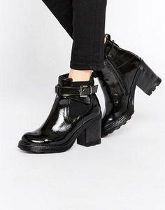 Bronx Chunky Heeled Chelsea Boots