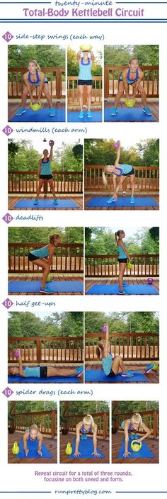 Work Out at Home This Winter: Plus a Push Harder Playlist - this kettlebell #workout from Presley at Run Pretty Blog