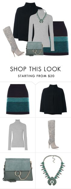 """""""outfit 5681"""" by natalyag ❤ liked on Polyvore featuring PS Paul Smith, James Perse, Gina and Chloé"""