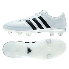 Pure like snow, the white Adidas Gloro 16.1 soccer cleats feature a great design. Using the soft kangaroo leather upper, these cleats give you a soft touch and deadly appeal. Order the while Adidas Gloro soccer boots today at SoccerCorner.com!  http://www.soccercorner.com/Adidas-Gloro-16-1-FG-Soccer-Cleats-p/sm-adaf4858.htm