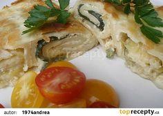 Zapečené palačinky s cuketou recept - TopRecepty.cz Mozzarella, Chicken, Meat, Food, Essen, Meals, Yemek, Eten, Cubs