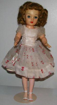 "1950's 18"" Ideal Miss Revlon High Heel Fashion Doll Original Dress Sash VT-18 | eBay"