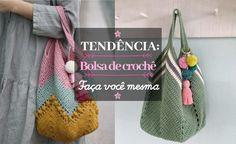 DIY: Bolsa de crochê #1 ⋆ De Frente Para O Mar Crochet Handbags, Crochet Purses, Crochet Purse Patterns, Love Crochet, Diy Crochet, Handmade Bags, Crochet Projects, Straw Bag, Reusable Tote Bags