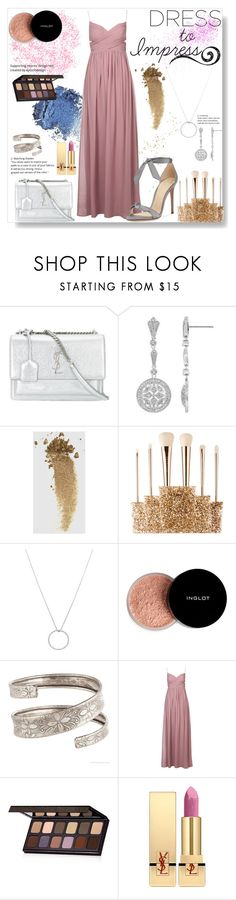 """Dreamy dresses #2"" by pengy-vanou on Polyvore featuring Yves Saint Laurent, Gucci, Sephora Collection, Roberto Coin, Inglot, Laura Mercier, Alexandre Birman, polyvoreeditorial, polyvorecontest and polyvorefashion"