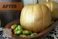 Super Simple Glitter Pumpkins by The Shabby Nest