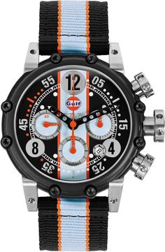 M Watch Black Orange Hands Limited Edition Watch available to buy online from with free UK delivery. Fancy Watches, Vintage Watches, Luxury Watches, Cool Watches, Watches For Men, Wrist Watches, Brm Watches, Sport Watches, Men's Accessories