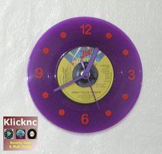 ELO Purple Vinyl Desk or Wall Clock by Klicknc on Etsy