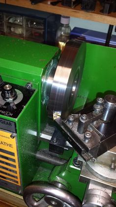 Adapter Plate for 5 inch dia. 4-Jaw Chuck. Turning the Outer Diameter to Size