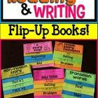All kind of examples for reading adn writing flip-up books! This page has flip book examples for transition words, titles, fiction story elements, A story map, and non-fiction stories! Reading Resources, Reading Strategies, Reading Comprehension, Reading Activities, Work On Writing, Teaching Writing, Writing Ideas, Teaching Ideas, Writing Lessons
