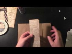 I teach you how to make a mini book with pockets. You only need one sheet of 12 X 12 double sided scrapbook paper. I also show how you can use Tim Holtz scra...