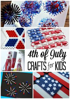 of July Crafts for Kids Fun crafts to do with you kids this of July! Love all the patriotic DIY ideas!Fun crafts to do with you kids this of July! Love all the patriotic DIY ideas! Fourth Of July Crafts For Kids, Fourth Of July Food, Holiday Crafts For Kids, 4th Of July Party, Summer Crafts, July 4th, Holiday Fun, 4th Of July Camping, 4th July Crafts