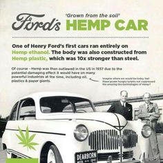 This is SO BIG...why are we not even TRYING to do this now?! It has already been done, but just not big because of the growing law for hemp...which is not a drug.  http://www.collective-evolution.com/2013/02/25/henry-ford-hemp-plastic-car-stronger/