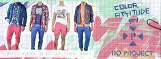 Actitud de color! encuentra todas las prendas en los Almacenes NoProject y Pilatos de Colombia