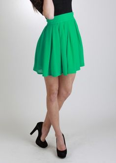 Mint Skater Skirt, Skirt, skater skirt high waist, Casual ...
