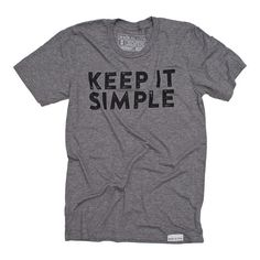 Keep it Simple Gray T-Shirt