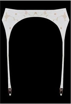 Lucy Lace Suspender Ivory #Lascivious #underwear #lingerie #bridal #mariage #blanc #blog #bloglingerie #lebloglingerie