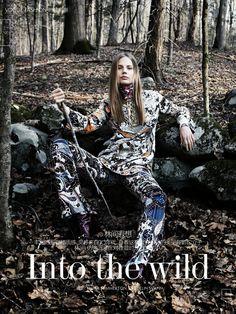 Into The Wild: #ElisabethErm by #EmmaSummerton for #VogueChina August 2014