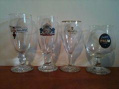 For Sale: Four original glasses, La Gauloise, Amstel 1870, Sezoens and Palm ...