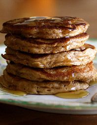 (if only i could make pancakes..) Oatmeal-Cookie Pancakes  Recipe adapted from Joy the Baker Cookbook
