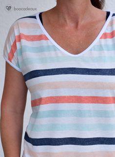 Oversize Shirt aus der Lust auf Handarbeiten - Streifenjersey von Lillestoff