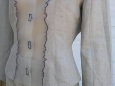 90s PRADA linen jacket  risque semi-transparent by EleanorsVintage
