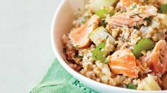 Salmon-Oat Hash with Celery
