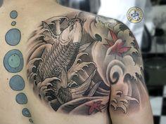 Koi Tattoo Sleeve, C Tattoo, Dragon Sleeve Tattoos, Koi Fish Tattoo, Japanese Sleeve Tattoos, Arm Band Tattoo, Koi Tattoo Design, Tattoo Designs Men, Armband Tattoos For Men