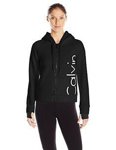 Calvin Klein Performance Women's Bonded Knit Logo Jacket - http://www.darrenblogs.com/2016/10/calvin-klein-performance-womens-bonded-knit-logo-jacket/